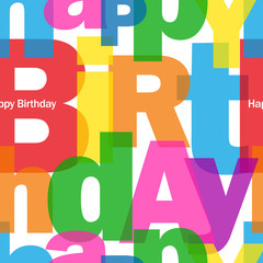 """HAPPY BIRTHDAY"" Seamless Letter Pattern (congratulations card)"