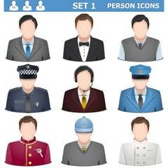 Vector Person Icons Set 1