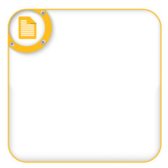 yellow box for entering text with document icon