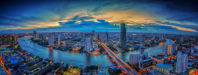 Wall Mural - Landscape of River in Bangkok city