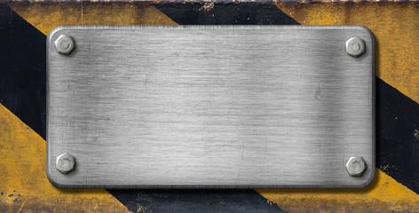 Wall Mural - metal plate industrial background