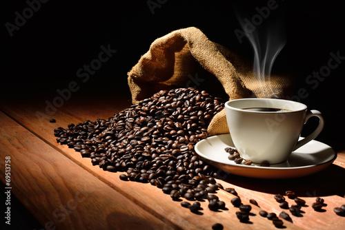 кофе зерна кружка дым загрузить