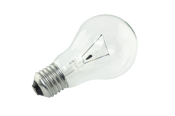 electric bulb on white background