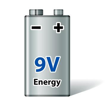 vector 9v square battery