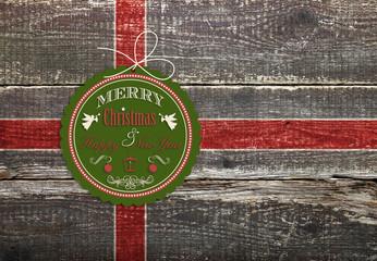 Verpackung Holzkiste Weihnachten