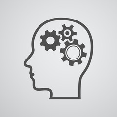 head gear brain background