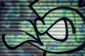 Graffiti sur métal