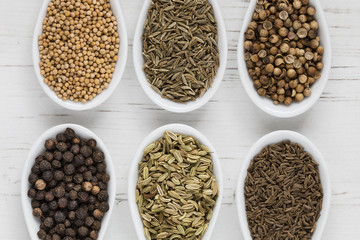 Whole seeds and spices