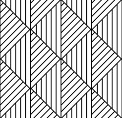 Seamless geometric pattern in op art design. Vector art.