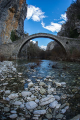 Kokoris stone bridge, Zagorohoria, Greece