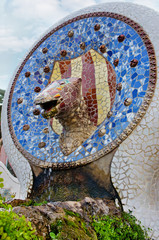 Park Guell in Barcelona, Catalonia, Spain