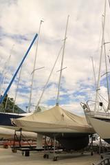 sailboats in Bogliaco on Lake Garda in Italy