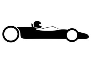 Fototapete - Vintage Car Racing
