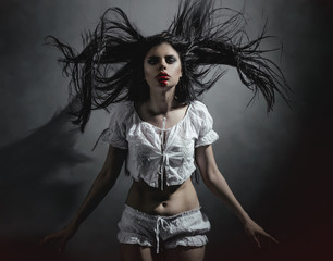 Gothic brunette woman