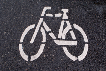 Bike lane symbol Sign