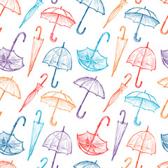 pattern of umbrellas