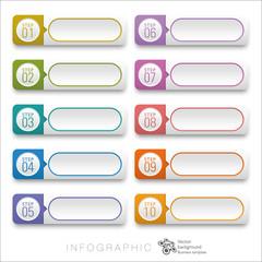 Infographics Web Banner & Label Design