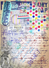 Scrapbook ,collage and patchwork background series