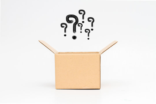 question mark in an open box