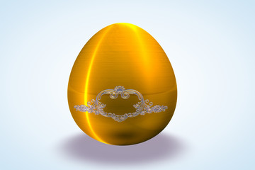 Gold&Silver Etched Egg