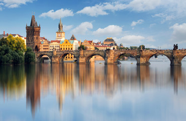 Wall Murals Prague Charles bridge in Prague, Czech republic