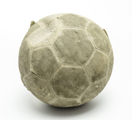 old football or soccer on white background isolated