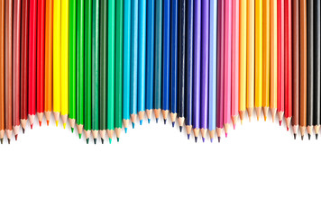Colored pencils. Isolated on white background