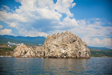 Adalary rocks in the Black Sea, Crimea, Gursuf, Russia
