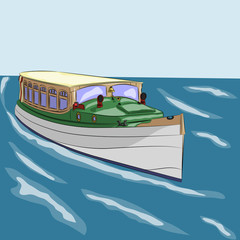 vector pleasure boat