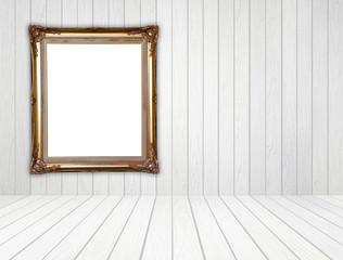 golden frame in room