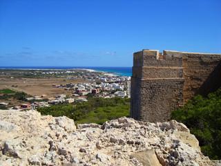Tunisian Coast from a Castle