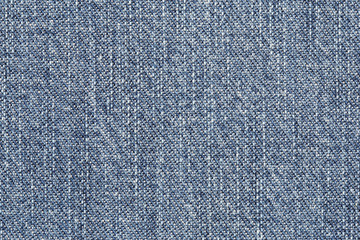 Close up of blue jean texture
