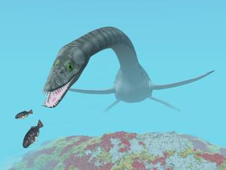 Plesiosaurus auf der Jagd