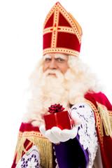 Sinterklaas showing gift