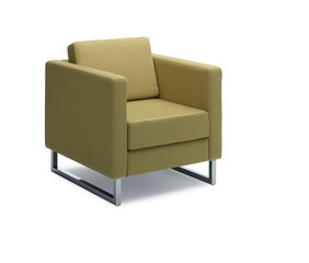 Modern green chair isolated on white background