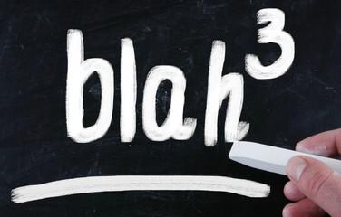 blah blah blah concept