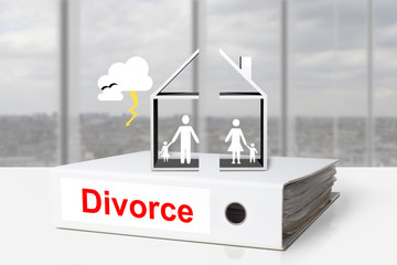 office binder house divided divorce family thunderstorm