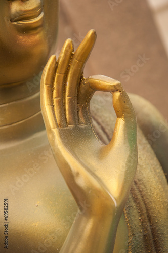 Golden Hand Buddha Ok Sign Stock Photo And Royalty Free Images On