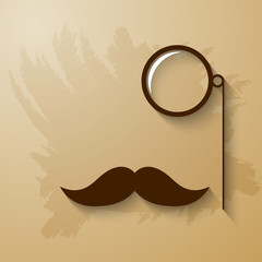 mustach and monocle