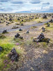 Cairn Montjoie Amas tas de cailloux islande
