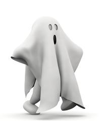 omino fantasma che cammina
