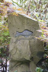 der Fisch im Grabstein
