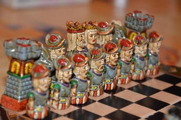 scacchiera in ceramica