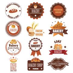 Vintage Retro Bakery Badges And Labels. Illustration eps10