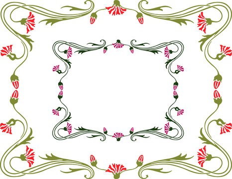 frame of the flexible flowers