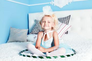 Cute little blonde girl