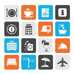 Silhouette Traveling and vacation icons