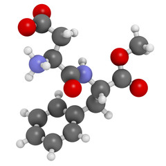 Aspartame artificial sweetener molecule.