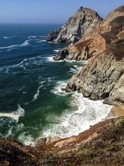 cliffs in pacifica - northern california coast