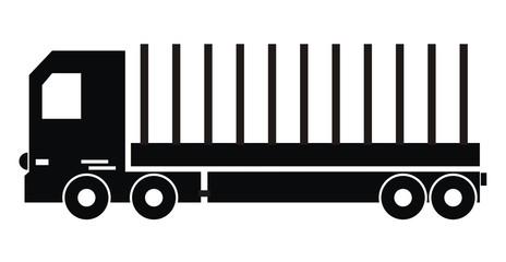 truck, silhouette